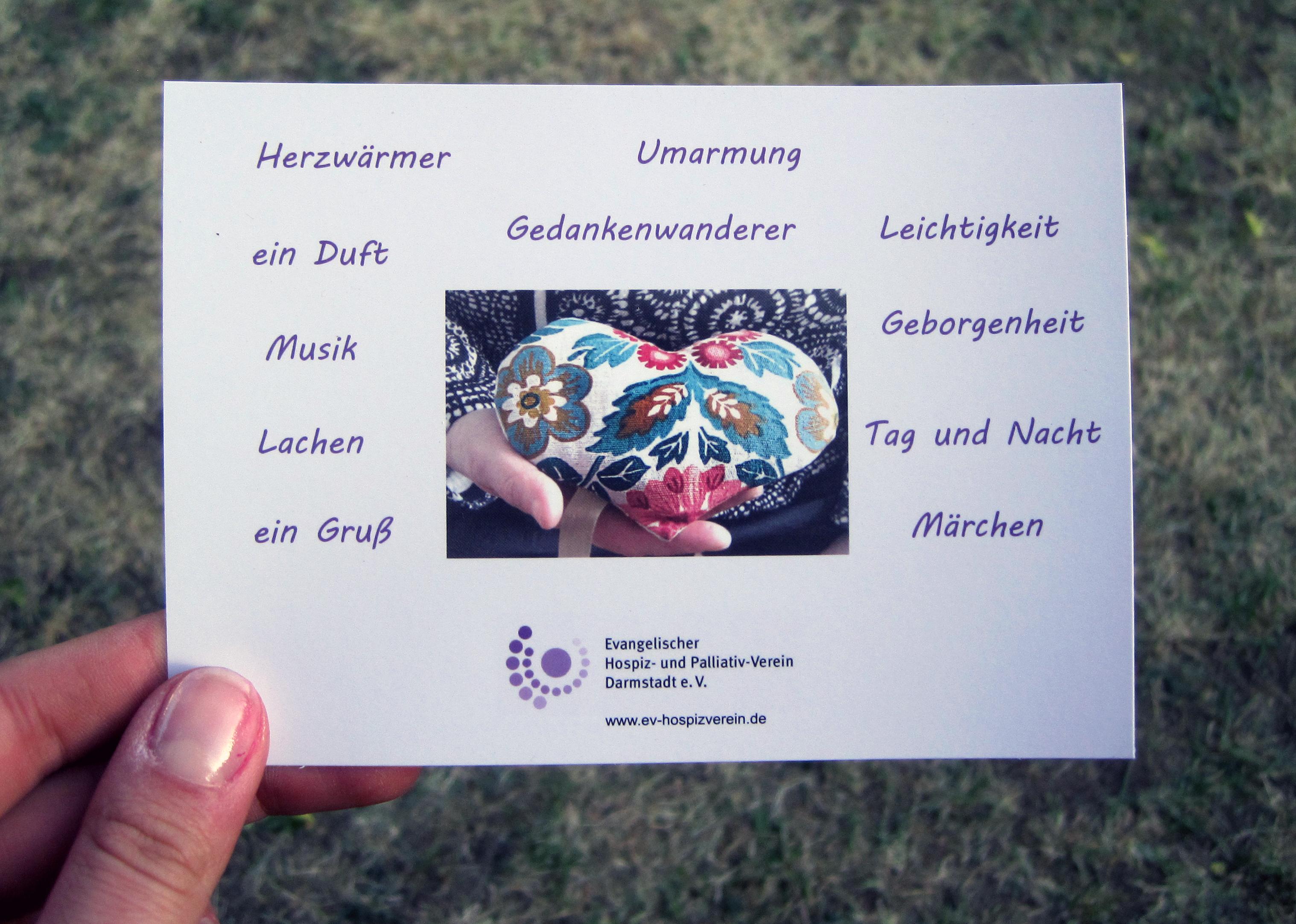 Bild Herzensworte-Postkarte
