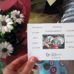 Foto vom Stand mit unseren Postkarten mit den Herzensworten, Foto: Lea Matusiak