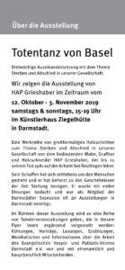 Ziegelhütte Programm Ausstellung